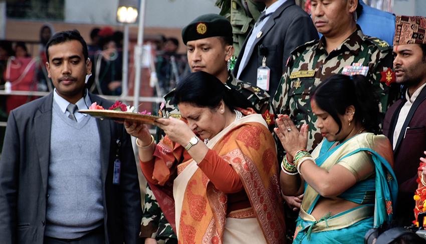 President-Bhandari-celebrate- chhat-festive