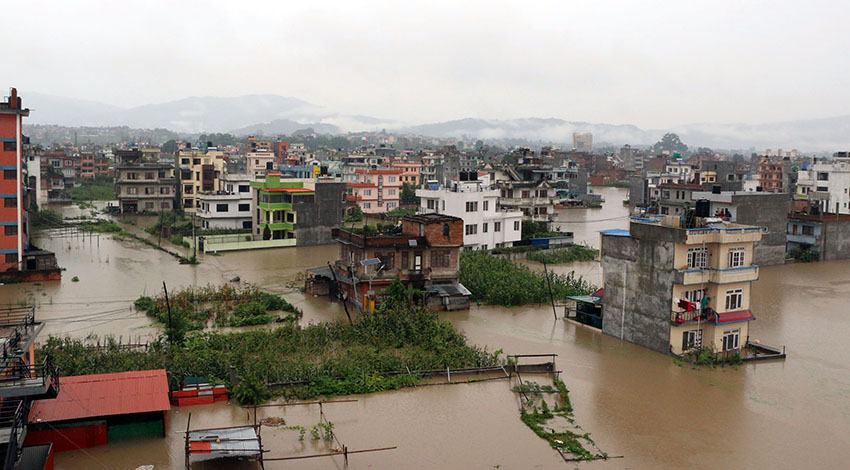 Nepal floods via sancharkarmi