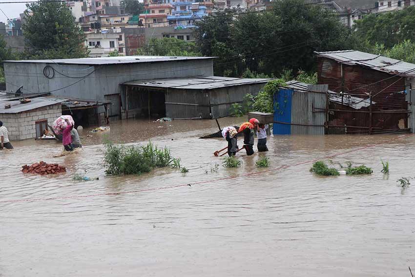 Nepal floods - sancharkarmi