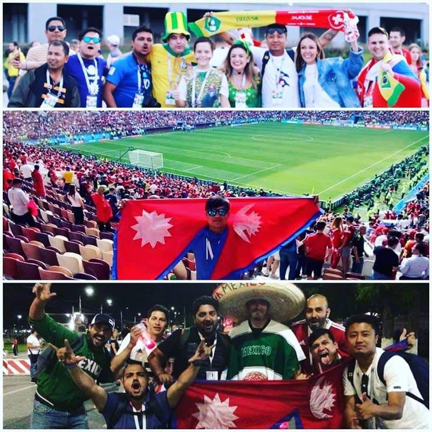 nepali fans in worldcup sancharkarmi